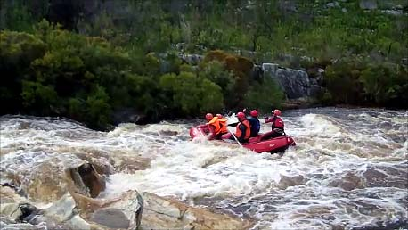 Rafting on the Palmiet