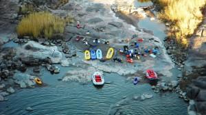 Orange River Gorge Rafting camp site